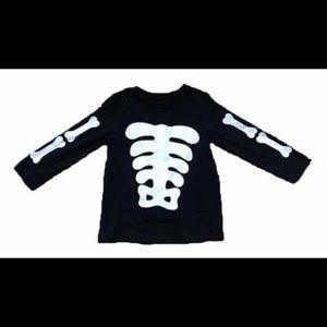 Other - Black White Skeleton Bones Shirt